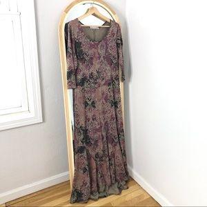 Peruvian Connection pima cotton modal print dress